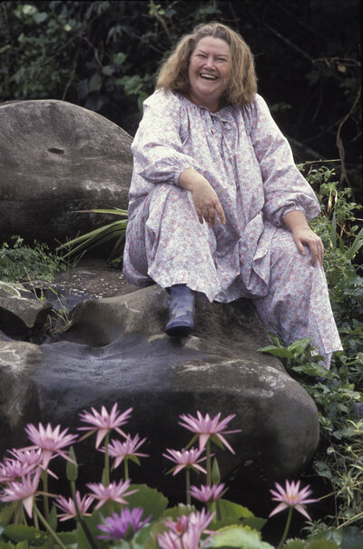 Colleen McCullough at home on Australia's remote Norfolk Island in 1990 — she told an interviewer she moved there to escape her difficult family.
