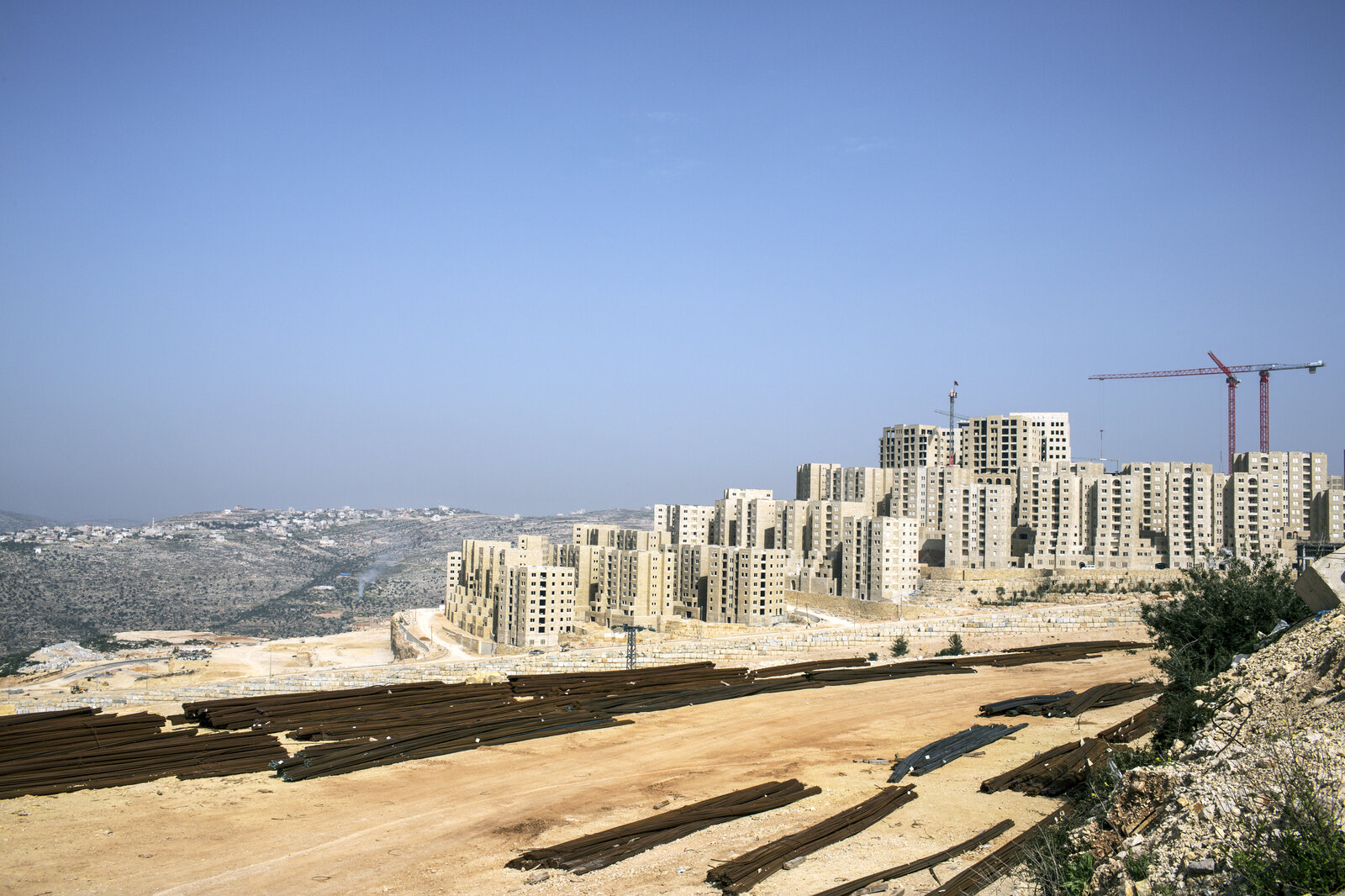 Construction in Rawabi, a Palestinian real estate development in the West Bank near Ramallah. There are some 5,000 homes in the first such planned community in the Palestinian areas.