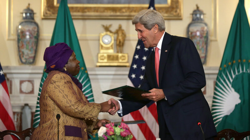 Secretary of State John Kerry and African Union Commission Chairperson Nkosazana Dlamini Zuma signed an agreement Monday to establish the first Centers for Disease Control and Prevention in Africa. The U.S. will provide technical advice and a few staff for the agency.
