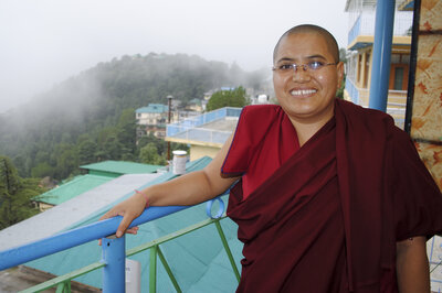 Tenzin Lhadron, a Tibetan Buddhist nun in Dharamsala, India, says the Dalai Lama paved the way for nuns to purse higher studies.