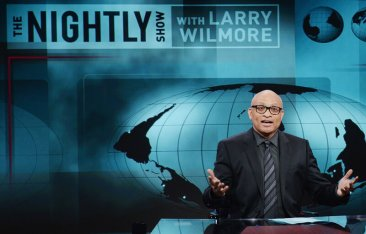 Host Larry Wilmore on the Jan. 19 debut episode of Comedy Central's The Nightly Show with Larry Wilmore.