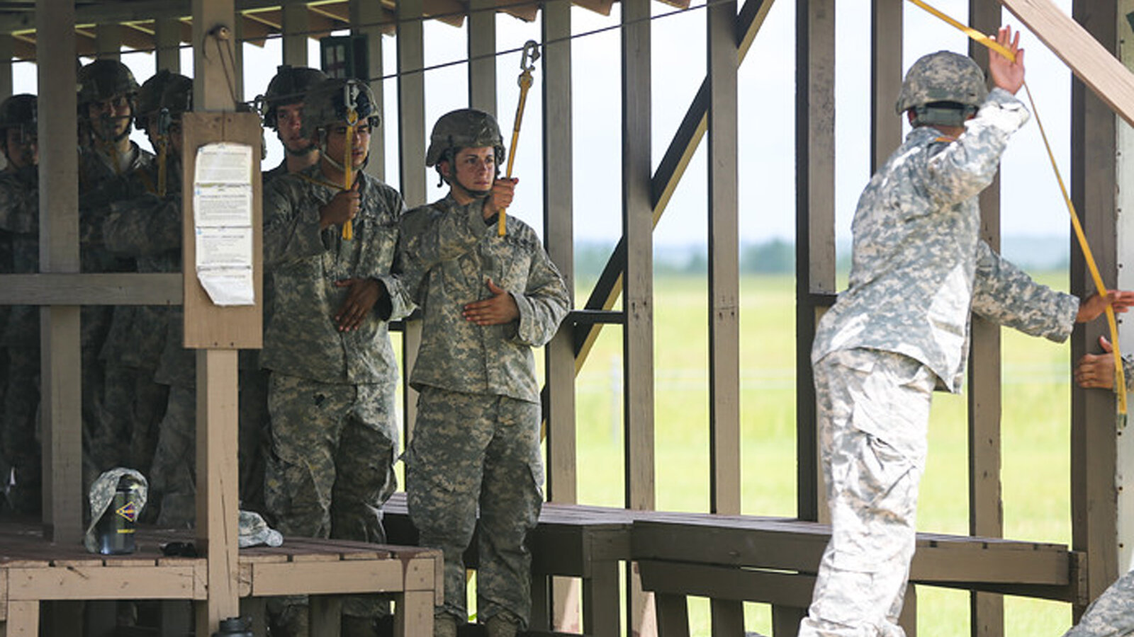 A woman participates in the final phase of U.S. Army Ranger training, taking place in the hot humid swamps of the Eglin Air Force Base, Fla., earlier this year. For the first time, two women completed the training, the military announced Monday.