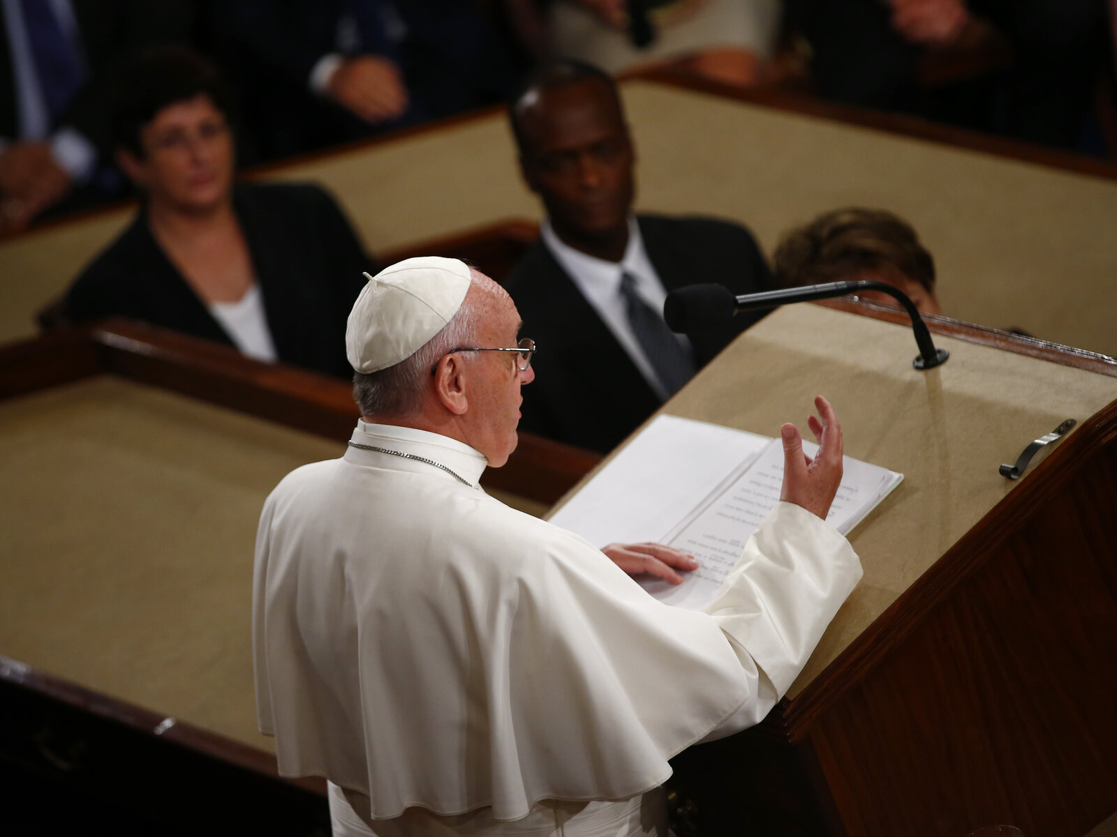 Pope Francis also strongly advocated for abolishing the death penalty, and called on Congress to act on climate change.