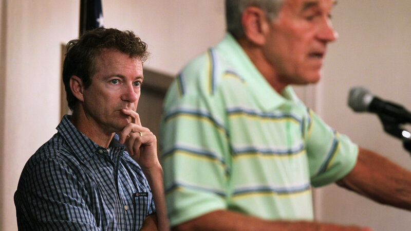 Rand Paul campaigned with his father in Iowa ahead of the 2012 caucuses, where Ron Paul finished a strong third. His son has struggled to hold on to his father's supporters.