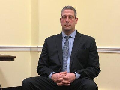 Rep. Tim Ryan, D-Ohio, meditates on Capitol Hill.