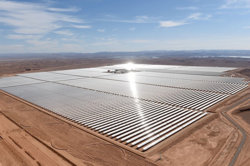 The Noor I Concentrated Solar Power plant, shown on Thursday, is the first phase of a large solar thermal power plant that is intended to supply more than a million Moroccans with electricity.