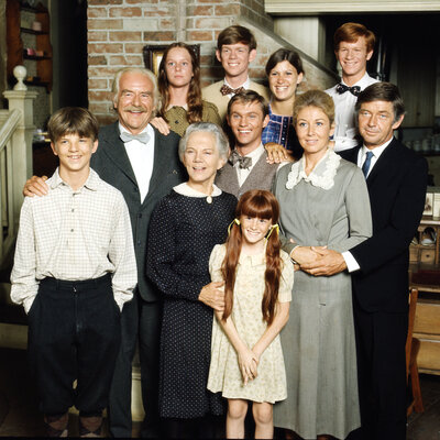 The cast of the TV show The Waltons, created by Earl Hamner Jr.