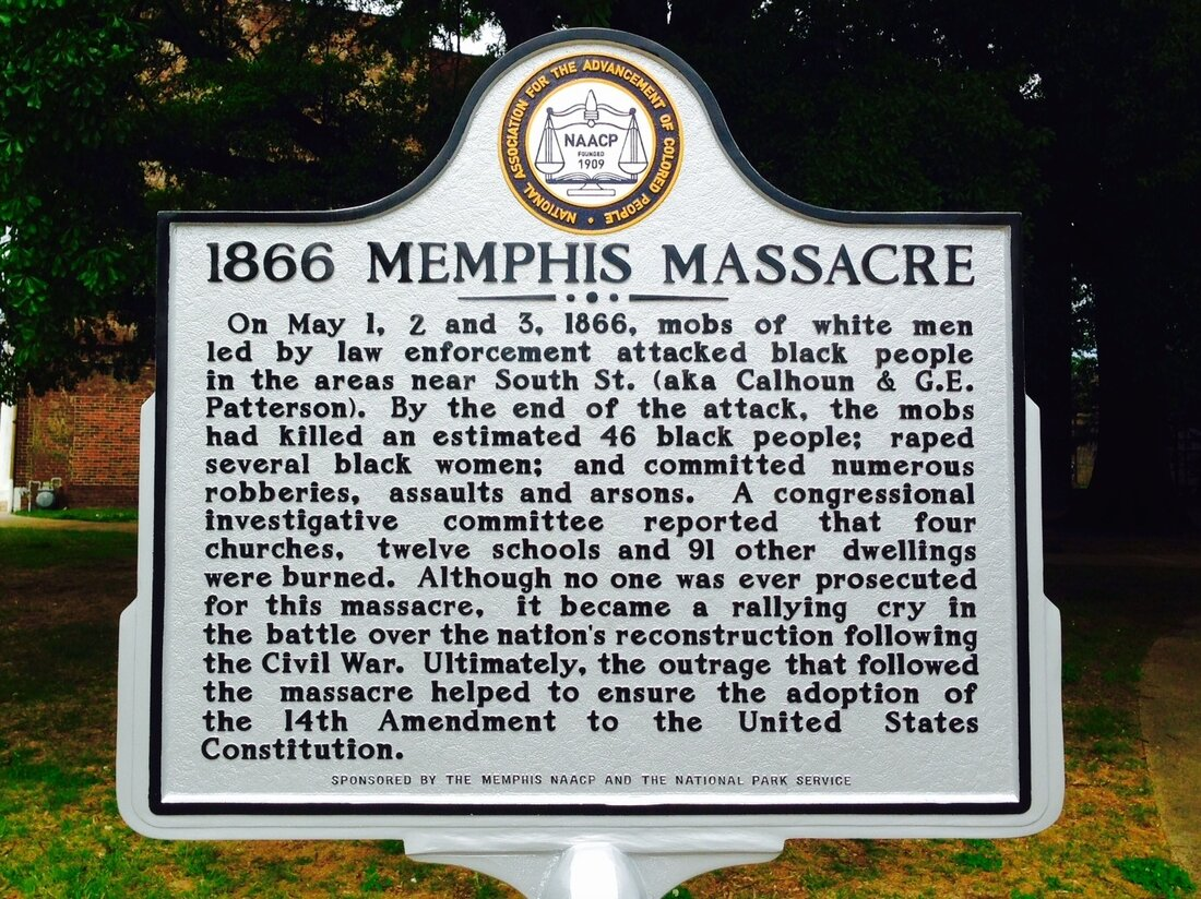 The sign, a private marker placed by the NAACP, and approved by the National Park Service, as it now stands in Army Park.