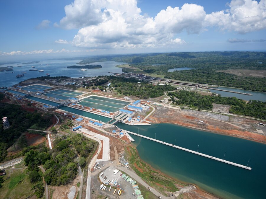 Image result for photos of the panama canal expansion