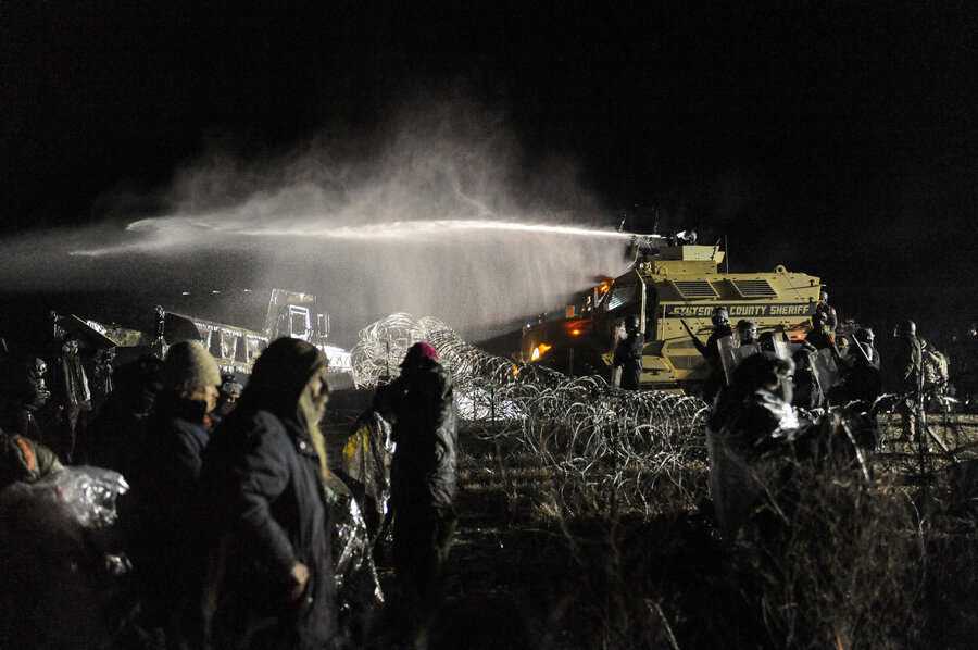 Image result for dapl spraying protesters