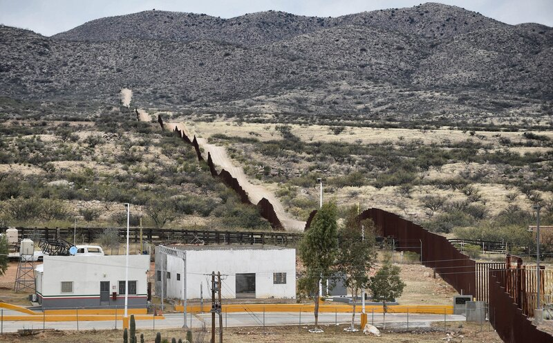The border wall. (Getty Images)