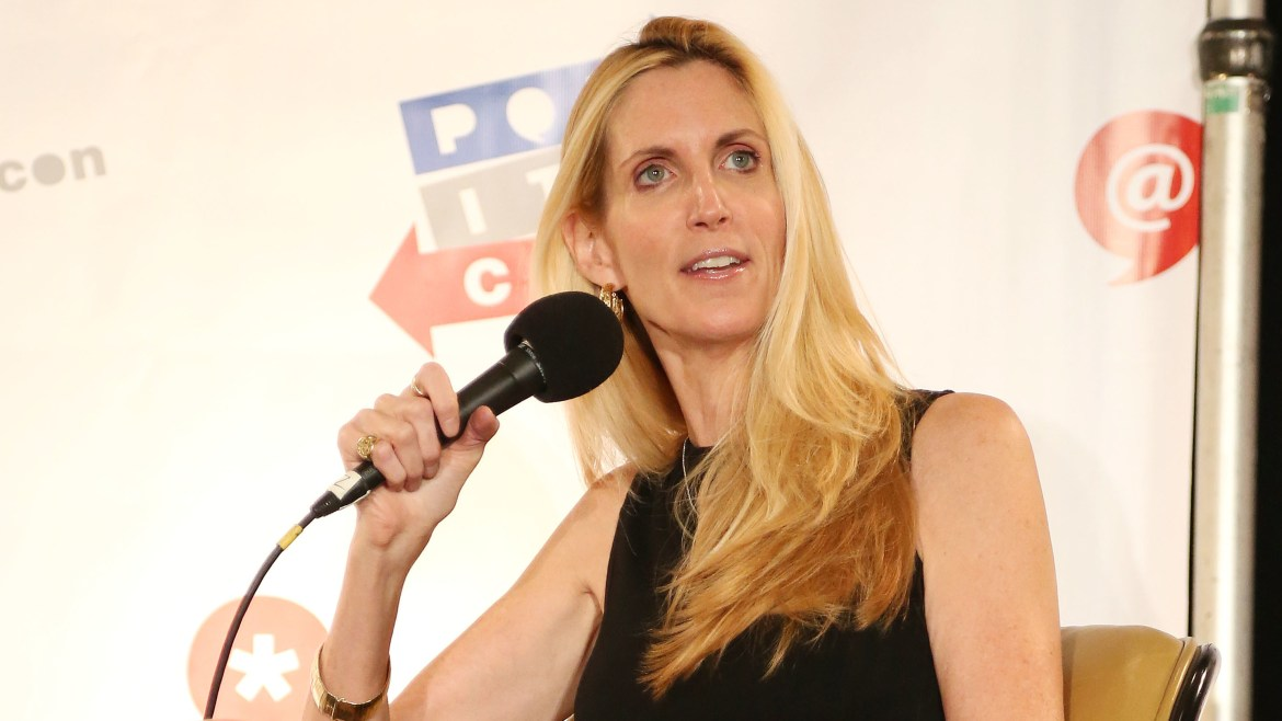 Ann Coulter speaks during Politicon in Los Angeles in 2015.