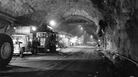 The Cheyenne Mountain Complex was completed in the mid-1960s. The tunnels extend thousands of feet into Cheyenne Mountain in Colorado Springs, Colo.