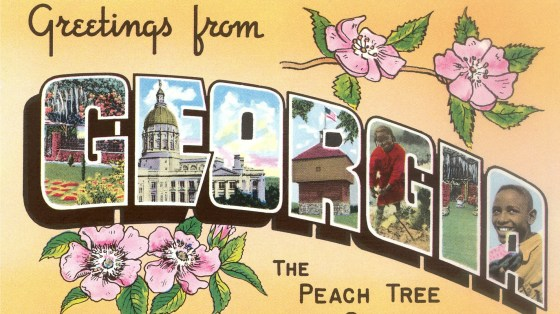 A vintage postcard from the Peach Tree State. Georgia isn