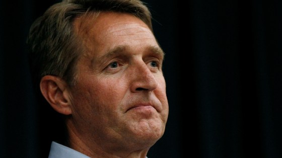 Sen. Jeff Flake, R-Ariz., wrote a new book, in secret, criticizing President Trump and Republicans who have not stood up to him in defense of conservative values.
