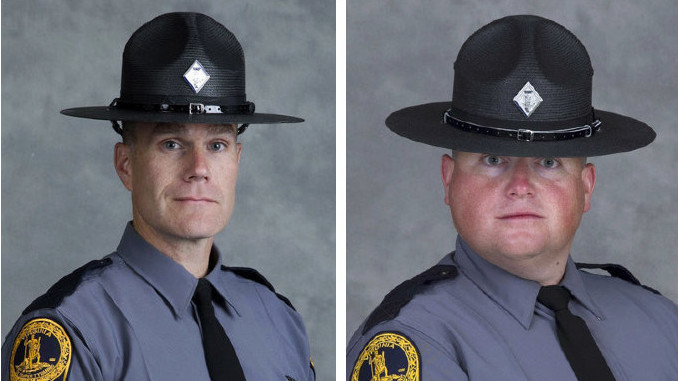 Virginia State Police Lt. H. Jay Cullen and Trooper-Pilot Berke M.M. Bates were killed Saturday when the helicopter they were riding in crashed.