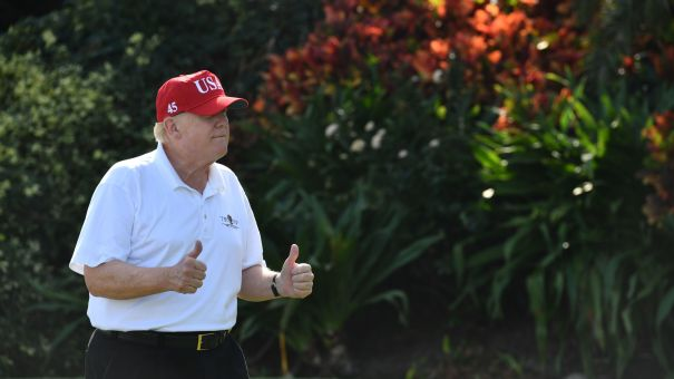 President Trump spent the Martin Luther King Jr. holiday at his Mar-A-Lago resort in Palm Beach, Fla. Previous presidents have marked the holiday doing volunteer work.