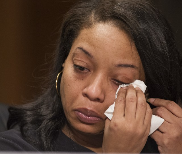 Kubiiki P Wipes Tears As She Testifies At A  Senate Hearing About Her Young Daughter Being Sold For Sex On Backpage Com The Site Ostensibly For