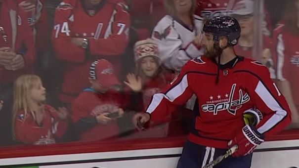 This is, what, attempt No. 5? Brett Connolly did get the puck to her — eventually, at least.