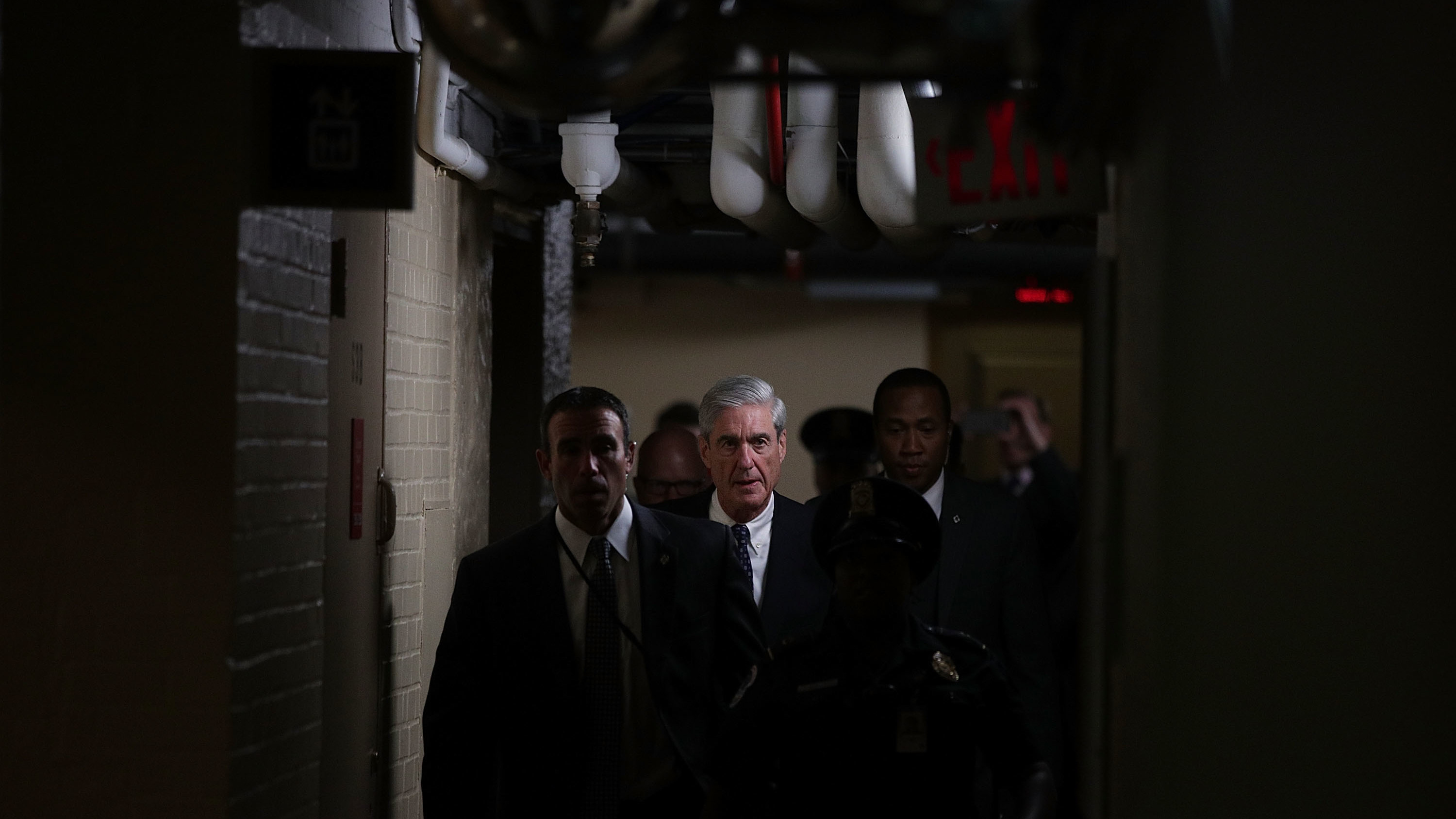Special counsel Robert Mueller leaves after a closed meeting with members of the Senate Judiciary Committee last June at the Capitol in Washington, D.C.
