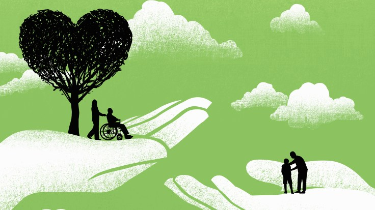 Family members caring for loved ones with Alzheimer