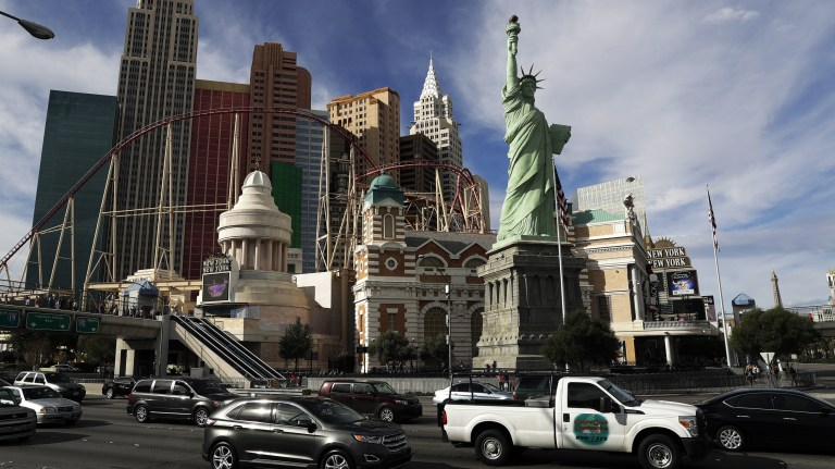 Robert Davidson finished his Las Vegas statue of Lady Liberty in 1996. A federal judge ruled last week that Davidson