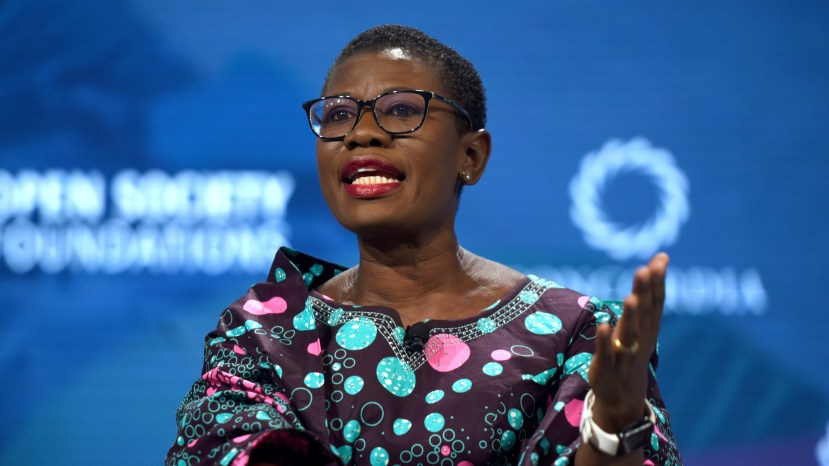 """Yvonne Aki-Sawyerr, the new mayor of Freetown in Sierra Leone, speaks at the 2018 Concordia Annual Summit in New York City. """"For decades, there had been no structure, no focused thinking of a strategy for the city,"""" she says. """"The way my brain works is with plans. I have to have a to-do list."""""""