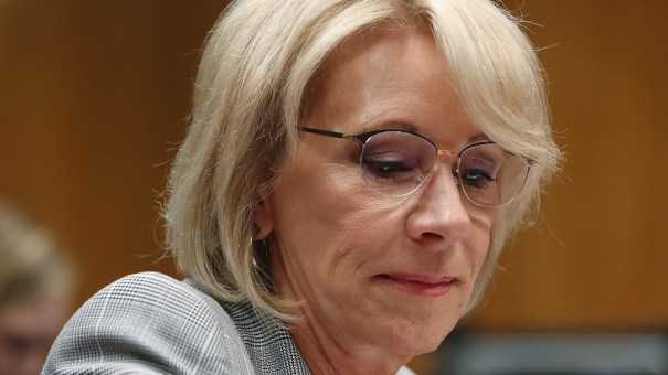 Education Secretary Betsy DeVos faces a new lawsuit filed on Tuesday. It alleges the Dept. of Education has failed to comply with the Borrowers Defense rule, a student loan forgiveness program that would automatically cancel debt for borrowers whose schools have closed.