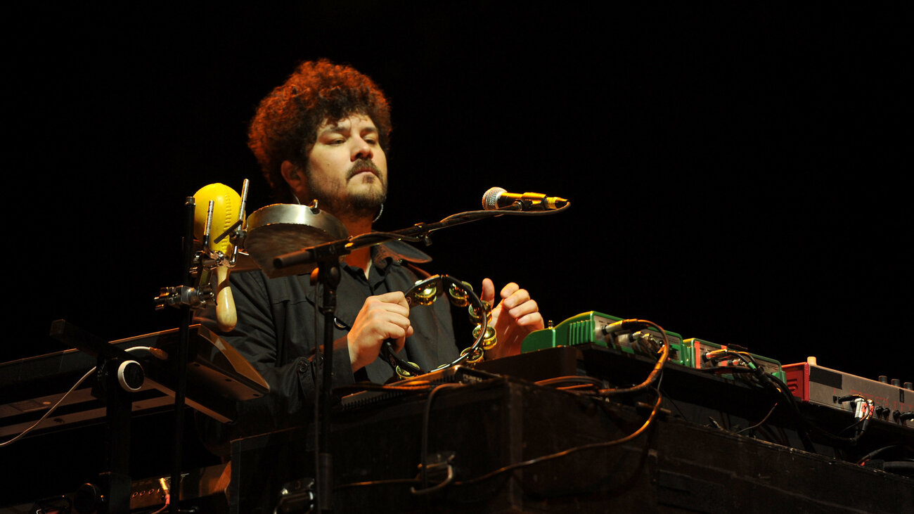 Richard Swift performs with The Shins at the 2012 Coachella Valley Music & Arts Festival.