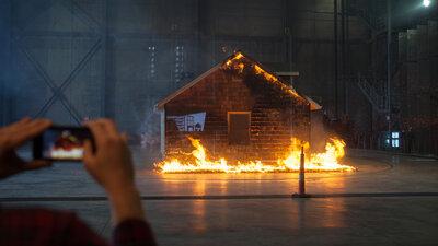 Step 1: Build A House. Step 2: Set It On Fire