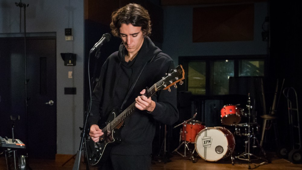 Tamino inside the World Cafe Performance Studio