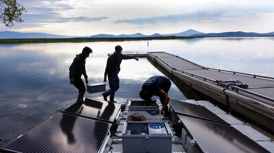 Pumping Oxygen In A Lake To Try To Save Fish Facing Climate Change