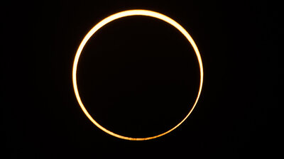 'Ring Of Fire' Eclipse Sweeps Across Skies In Middle East And Southeast Asia