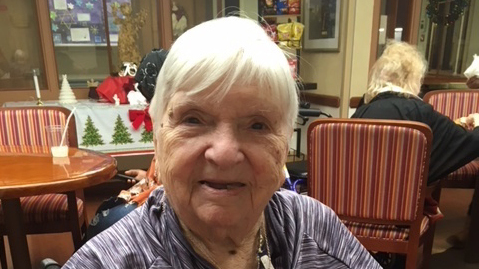 Sophie Avouris, 102, recently recovered from the coronavirus. She was a baby when the 1918 influenza pandemic spread across Europe. She lived through the Great Depression and World War II before emigrating from Greece to the U.S. in the 1950s.