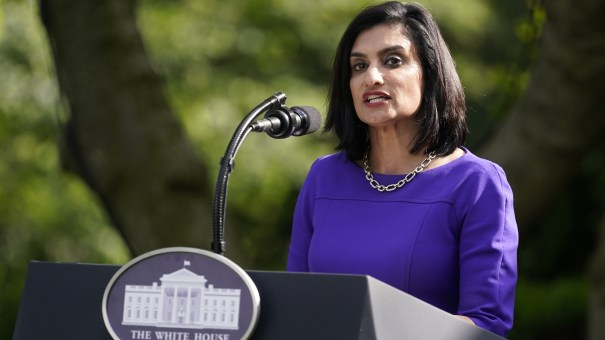Administrator of the Centers for Medicare and Medicaid Services Seema Verma, pictured at a White House event last month, says her agency will be stepping up fines for nursing homes that fail to sufficiently control infections.