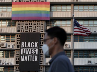 U.S. Embassy in South Korea Removes Black Lives Matter Banner and LGBT Flag at Request of State Department