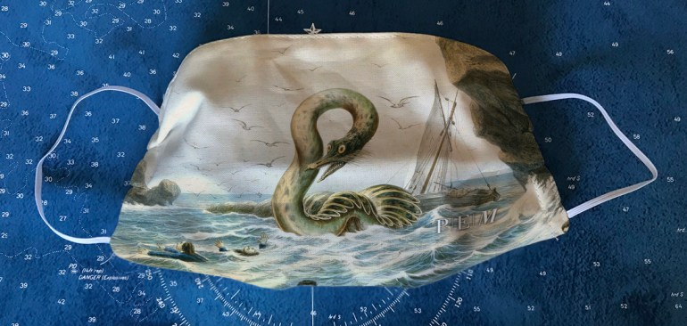 Mask of The Great Sea Serpent by Yves at the Peabody Essex Museum