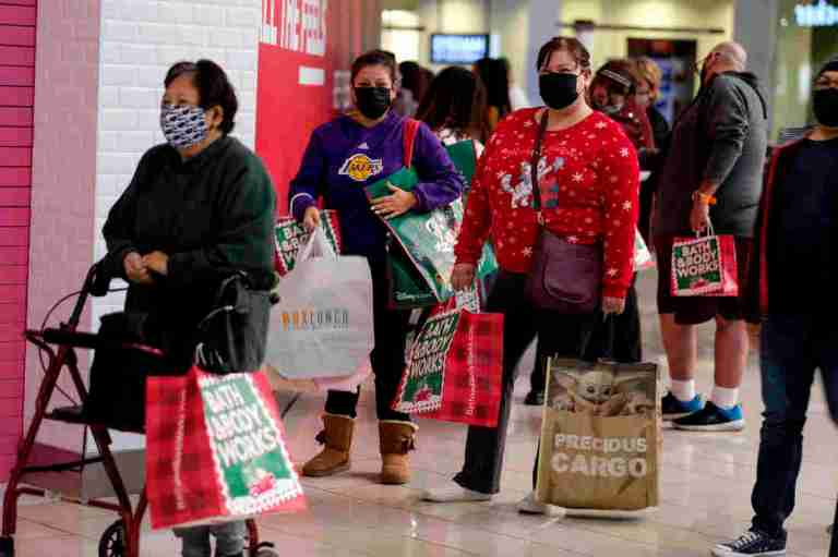 A Black Friday With Masked Shoppers And Booming Online Sales : Coronavirus Updates : NPR