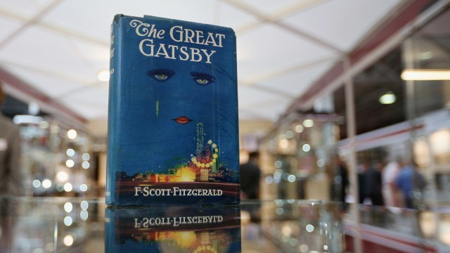 F. Scott Fitzgerald, Virginia Woolf, Ernest Hemingway, Franz Kafka and many more authors and artists have 1925 works entering the public domain on January 1. Above, a first edition of The Great Gatsby at the London International Antiquarian Book Fair in London in 2013.