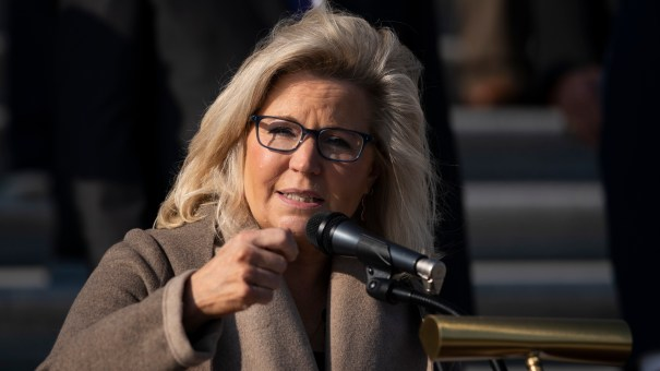 Rep. Liz Cheney, R-Wyo., seen here during a press conference in December, is the No. 3 Republican in the House of Representatives.