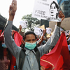 Tens Of Thousands Rally In Myanmar Protesting Military Coup
