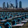 Empty Desks At U.N. Represent Millions Of Children Who Have Missed School In Pandemic