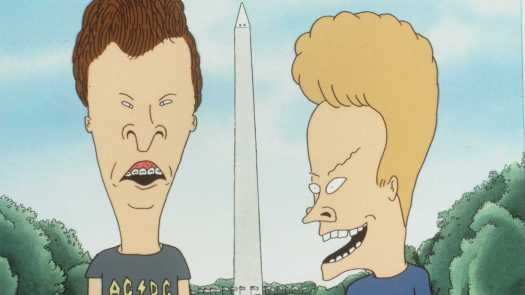 """When Beavis and Butt-Head debuted on MTV in 1993, critics called the duo """"crude,"""" """"ugly"""" and """"self-destructive."""" Above, a still from the 1996 film Beavis and Butt-Head Do America."""