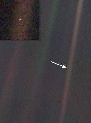 Image result for pictures of pale blue dot voyager