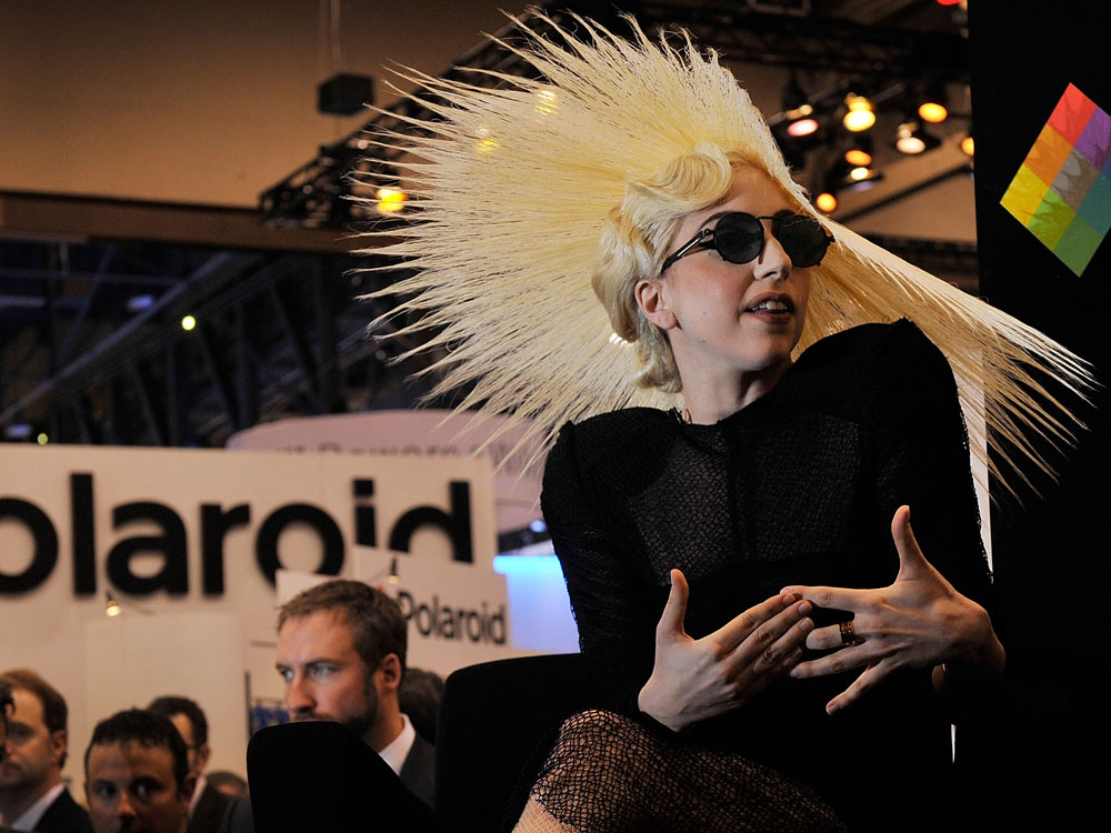 Singer Lady Gaga during a January announcement of her long-term partnership with Polaroid as the brand's creative director.