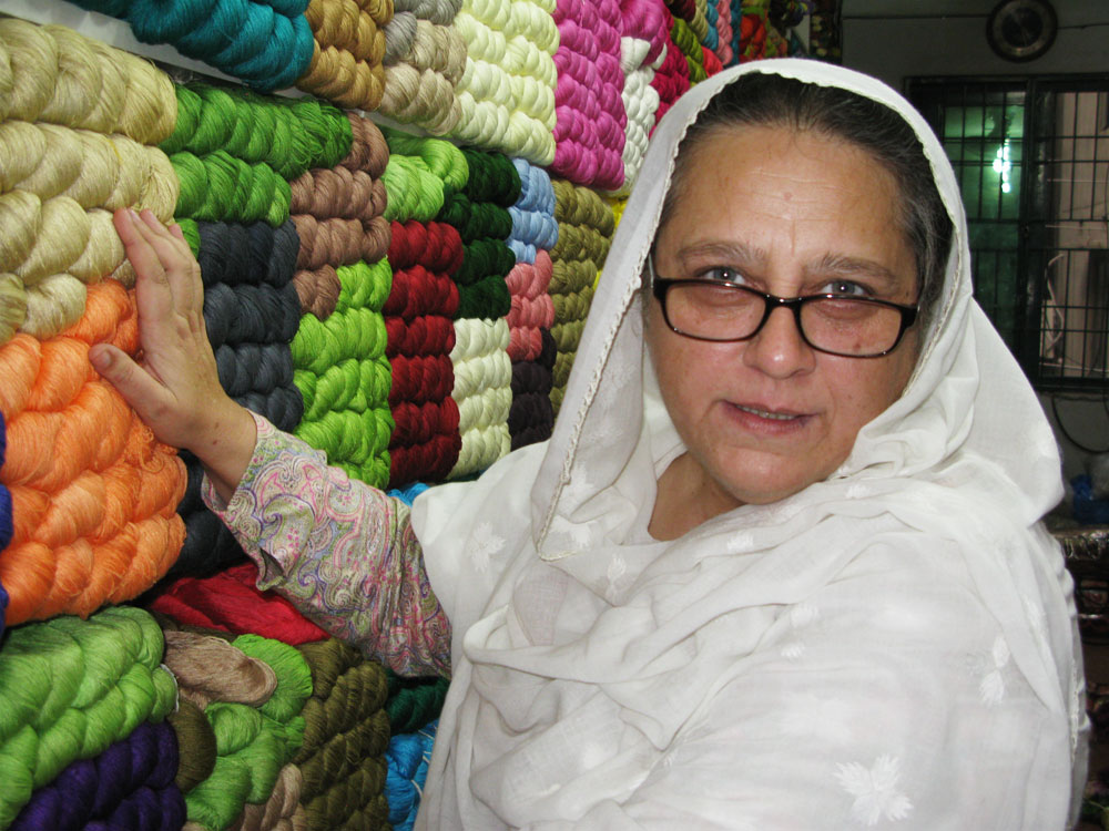 Ahmed Zeb shops at her favorite thread store in Lahore