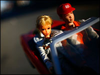 Barbie takes to the road. David Gilkey/NPR