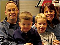Mark Dugan, Connor Dugan, Ryan Dugan and Joy Zimmerman.