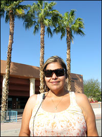 Aurora Chacon visits the Employment Development Department looking for a job.