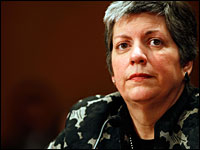 Homeland Security Secretary Janet Napolitano.